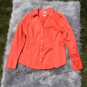 Calvin Klein Orange Button Down Non-Iron Shirt